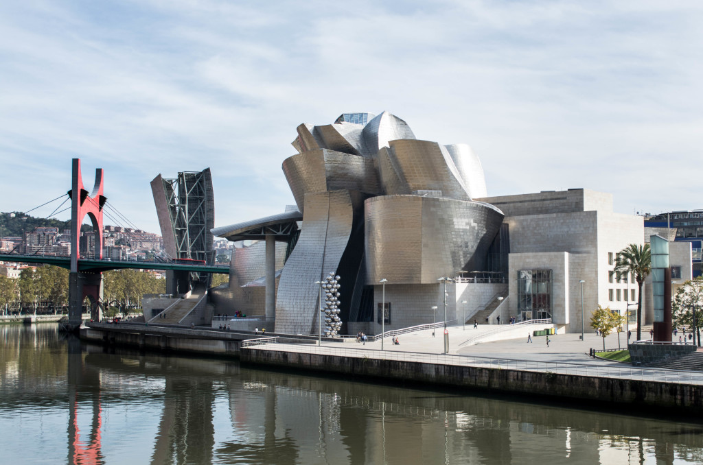 The Guggenheim - Bilbao's most famous site to see. What an incredible piece of architecture!