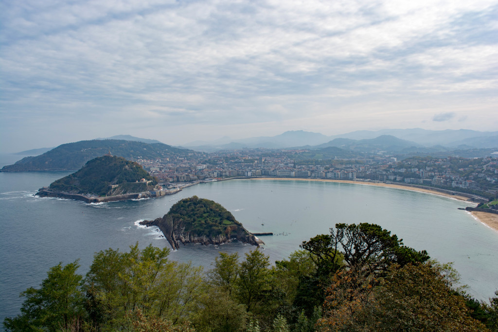 The view of San Sebastian from the top of one of our hikes