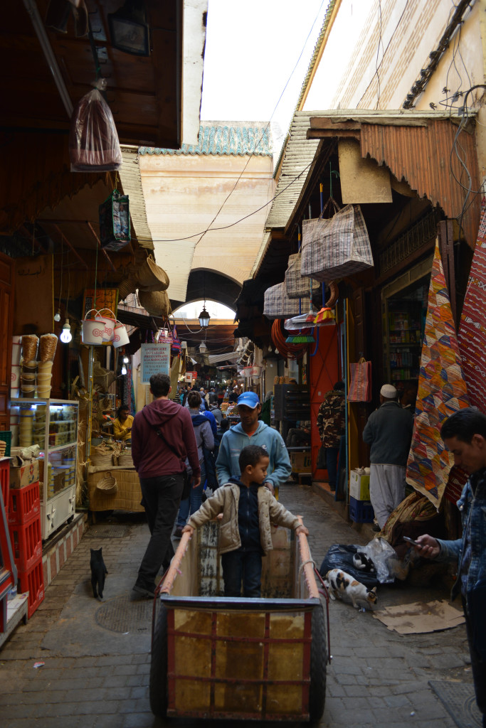 A classic example of the small streets in the medina.