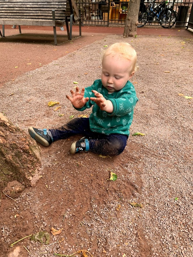 He LOVED crawling around this park, and especially the dirt (especially eating the dirt haha)